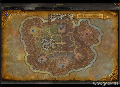 Тол Барад карта