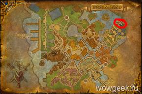 Карта с обозначением тренера Археологии