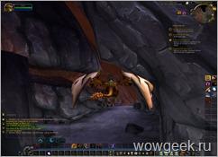 Летающий маунт в пещерах