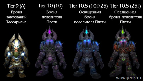Рыцарь Смерти: Тир 9 - Тир 10.5