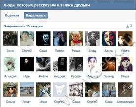Кто поделился новостью Вконтакте